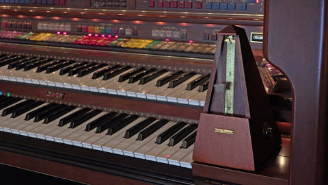Metronome on beautiful music organ Footage