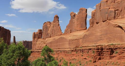 Moab Utah Park Avenue trees Arches National Park DCI 4K Footage