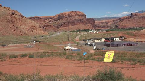 Moab Utah UMTRA contamination radiation uranium site 4K Footage