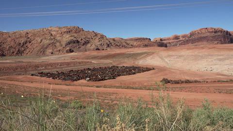 Moab Utah uranium contaminated building cleanup UMTRA 4K Footage