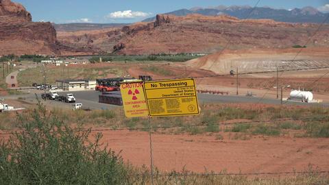 Moab Utah uranium mill contamination cleanup UMTRA 4K Live Action