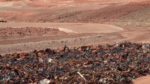 Moab Utah zoom uranium mill building cleanup UMTRA 4K Live Action