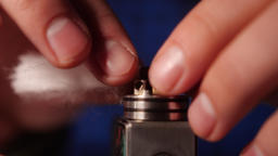 Vape Macro, Coil Change In Rda Atomizer For Vaping , E-Cigarette Live Action