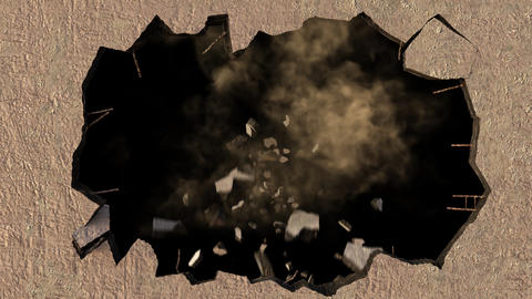 Wall Smash with Smoke Animation