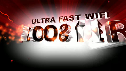 403 4K 3d animated internet template with words ULTRA FAST WIFI BOOSTER Animation
