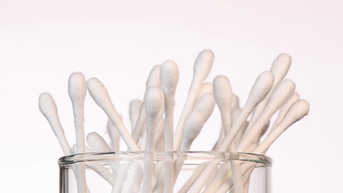 QTips, Cotton Swabs, Hygiene Products, rotating Live Action