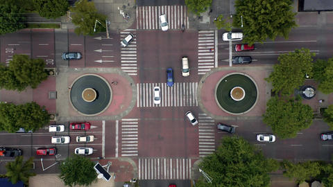 City busy traffic intersection, time-lapse Live Action