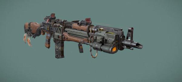 AK47 Cyber style 3D Model