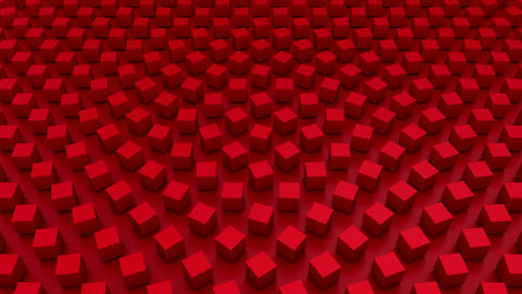 Rotating Cubes Form A Wave Animation