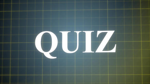 Quiz-Holographic Logo Animation