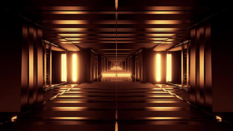 3d illustration motion backgrounds futuristic sci-fi tunnel corrior with nice Animation