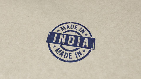 Made in India stamp and stamping animation Animation