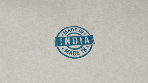 Made in India stamp and stamping loop animation Animation