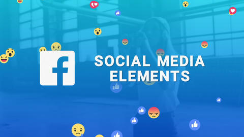 Facebook Social Media Elements After Effects Template