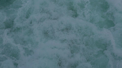 Pacific Ocean cruise ship wake waves HD 7793 Footage