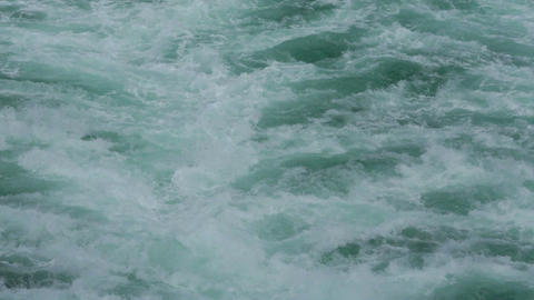 Pacific ocean waves wake behind cruise ship HD 7791 Footage