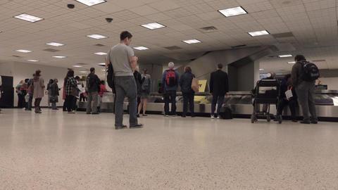 Passengers baggage claim Houston Bush airport 4K Footage