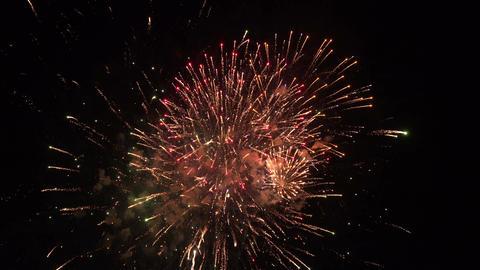 Patriotic fireworks 4th july beautiful 4K 092 Footage
