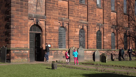 Penrith England Parish Church seniors and children 4K 020 Footage