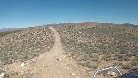 Riding off road atv on desert dirt trail Utah HD 005 Footage
