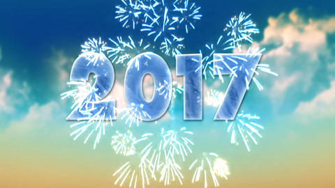 New year 2017 - fireworks Animation