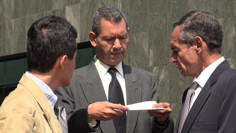Business Men Disagree Over Important Documents Live Action