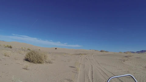 Sand Dunes play with 4x4 ATV off road vehicles HD 340 Footage