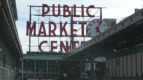 Seattle city Public Market shopping HD 6705 Footage