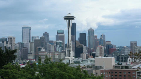 Seattle urban business center Space Needle HD 6790 Footage