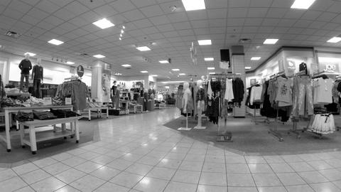 Shopping clothing department store clothes BW HD 0295 Live Action