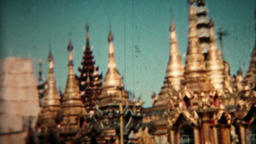 Thailand Circa 1960 vintage film Golden Temples HD 0077 Footage