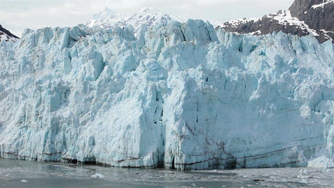 The great beautiful Margerie Glacier Alaska HD 1413 Footage
