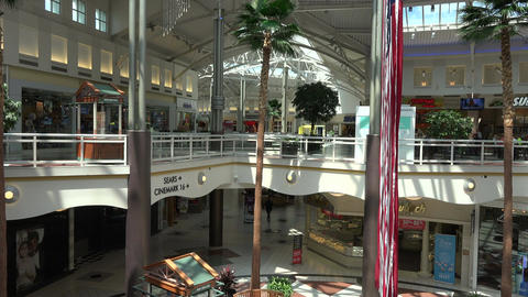 Urban Mall shopping center stores business 4K 121 Footage