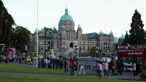 Victoria British Columbia Canada Parliament Building tourist HD 7881 Footage