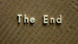 Vintage film The End title HD Live Action