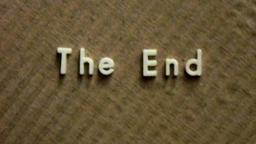 Vintage film The End title HD Footage