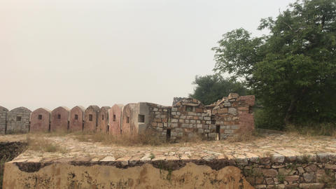 Jaipur, India - defensive structures on a high mountain part 6 Live Action