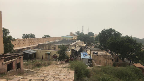 Jaipur, India - View of the fortress under the snout Live Action