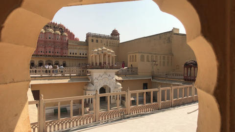 Jaipur, India - View of the historic structure through the arch Live Action