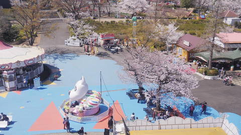 Top view of Yomiuriland in spring season Live Action