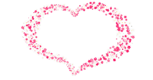 Floral heart on a transparent background. White and pink flowers form a heart shape CG動画