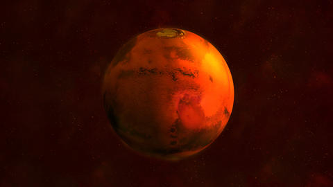 Planet Mars from space showing Syrtis Major Fotografía