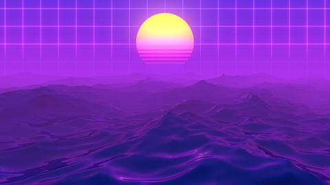 Retro 80s Ocean CG動画