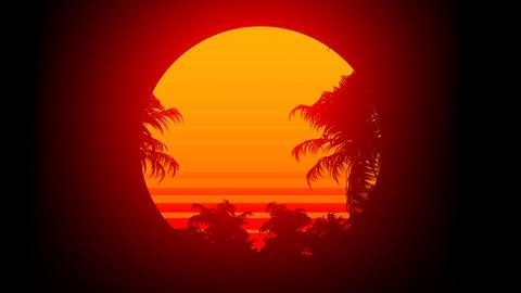 Retro 80s Sunset CG動画