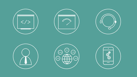 SEO Icons Set C (With Alpha Channel) Animation