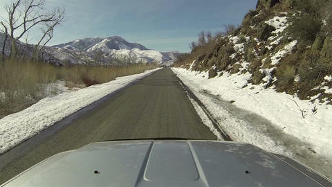 Winter mountain canyon driving truck POV 1 HD 0274 Footage