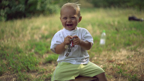 Carefree children's lives Footage