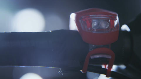 Bike light close-up Footage