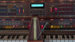 metronome on key board of electronic organ Footage