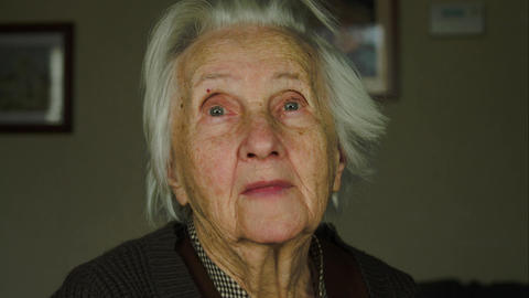 Portrait Of A 99 Years Old Woman Looking At The Camera, Senescence, Nostalgia Live Action